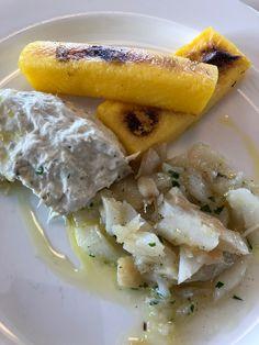 Baccalà mantecato e insalata con la polenta