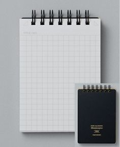 Maruman Mnemosyne 'Roots' Notepad // A7    Graph and Plain