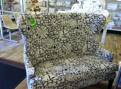 High Back Settee Retail Price 699.99, Housing Works Price: 350.00, Courtesy of HomeGoods and Evette Ríos