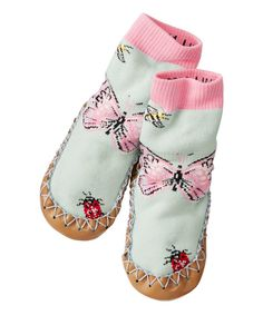 Look at this Flutter & Floral Swedish Slipper Moccasin on #zulily today!