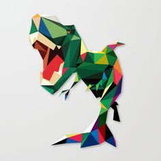 LOW POLY DINO Canvas Print