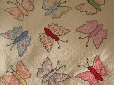 1930s applique butterfly quilt