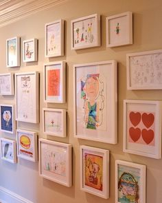 Decorating: How to Curate Your Children's Artwork to Striking Effect via @Houzz