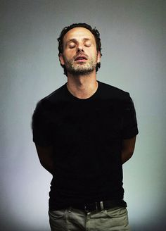 Andrew Lincoln: Love the idea of this picture..sends me flying into thoughts of rope and well controlled eroticism...lol