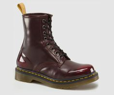 VEGAN 1460 | Womens Boots | Official Dr Martens Store - US Cherry Red, two-tone finish