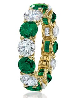 Cellini Jewelers carries CELLINI Round Emerald and Diamond Eternity Band Gold Rings Jewelry, Emerald Jewelry, Fine Jewelry, I Love Jewelry, Diamond Jewelry, Girls Jewelry, Jewelry Accessories, Jewelry Design, Eternity Ring Diamond