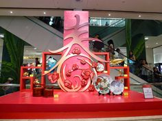 """""""Shopping Mall lunar New Year Decoration""""的图片搜索结果 Chinese New Year Party, Chinese New Year Decorations, New Years Decorations, Festival Decorations, New Year Backdrop, Booth Decor, Christmas Material, Poster Photography, Exotic Art"""