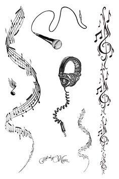 Rock This Way Temporary Tattoo sheet - superb music tattoos