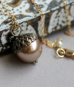 Acorn Necklace.