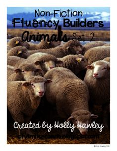 Non-Fiction Fluency Builders Animals Set 2 from Holly Hawley Elementary Science, Science Ideas, Cows, Farm Animals, Nonfiction, Sheep, Horses, Non Fiction, Horse