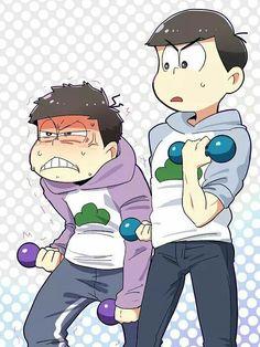 Really Ichimatsu is this how you exercises Dark Anime Guys, All Anime, Osomatsu San Doujinshi, Anime Crossover, Ichimatsu, Sasunaru, Image Comics, Haikyuu Anime, Cats And Kittens