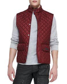 Quilted Vest, Dark Red by Belstaff at Neiman Marcus.
