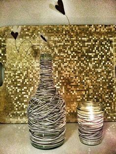 Fimo e Feltro...l'arte tra le mani: Twin set da tavolo -marrone