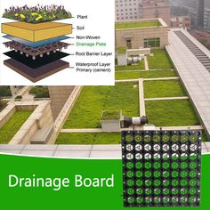 Drainage Board_Product Herb Wall, Roads And Streets, Cement, This Is Us, Boards, Plants, Sup Boards, Planets, Concrete