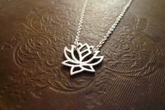 #lotus #flowernecklace Silver Lotus Necklace in Sterling Silver  Blooming by roundabout, $27.00