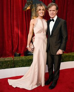 The Cutest Couples on the SAG Awards Red Carpet - Felicity Huffman and William H. Macy from InStyle.com