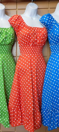 Pin Up Dresses Vintage Dresses Retro Dresses on sale in orange $40 medium