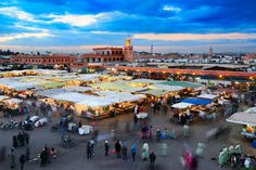 Jamaa El-Fna Square in Marrakech Morocco at Sunset by EmporosLight
