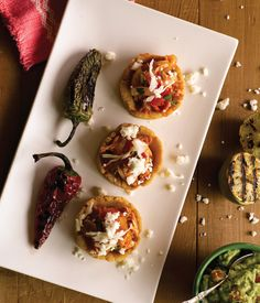 """Chicken Sopes from """"Fried Chicken & Champagne"""" by Lisa Dupar. Photo by Kathryn Barnard."""