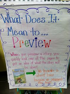 Life in First Grade: previewing