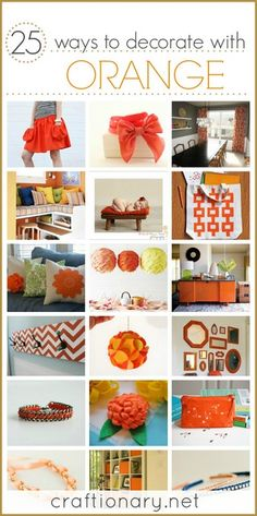 Orange color ideas #orange #Fall_ideas
