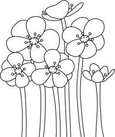 Digital Stamp - Flowers