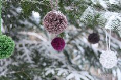 Lykkefryd: {Gjør det selv} Pom-Pom i garn som julepynt