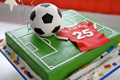 One last post to mark the start of the weekend! This was a referral from my brother in law! : ) Was introdu. Soccer Cupcakes, Soccer Birthday Cakes, Soccer Ball Cake, Sports Birthday, Themed Birthday Cakes, Themed Cakes, Boy Birthday, Birthday Ideas, Football Cakes For Boys