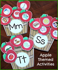 Literacy Activity The apple themed beginning sound baskets include over 120 colorful apples for sorting by sound. This activity can be easily differentiated as you choose which and how many apples to sort. Kindergarten Centers, Kindergarten Literacy, Beginning Sounds Kindergarten, Apple Activities Kindergarten, Kindergarten Apples, Literacy Worksheets, Literacy Centers, Alphabet Activities, Classroom Activities