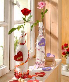 """©efco-freizeit-engel.de - Flaschen und Vasen mit Glasperlen veredeln (Idee mit Anleitung – Klick auf """"Besuchen"""")"""