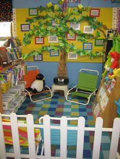 Love this for a classroom library/reading center. In place of names I would put our genre posters on green construction paper and intertwine those in the leaves.