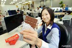 When do you eat chocolate?  #lotte #ghana #chocolate #japankuru #japan #100tokyo #tokyo #cooljapan #office