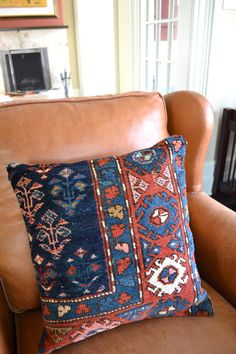Kilim Pillow - Persian Rug Pillow - Oriental Carpet Cushion - Large Square Pillows. $149.00, via Etsy.