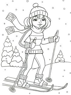 Coloring Pages Winter, Coloring Sheets For Kids, Cat Coloring Page, Christmas Coloring Pages, Coloring Book Pages, Winter Art, Winter Colors, Crafts For Kids To Make, Winter Activities