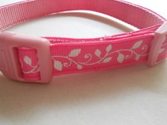 """Hot Pink Girl Dog Collar - 5/8"""" wide by FourPawsJewelry on Etsy"""
