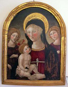 Francesco di Giorgio Martini (bottega) - Madonna col bambino e due angeli - 1450-1500 ca. - Museo diocesano, Siena
