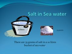 """"""" inforgraphic of the salt content in a 10 litre bucket of Sea water"""" University Of Southampton, Embedded Image Permalink, Oceans, Exploring, Infographic, Lunch Box, Display, Floor Space, Infographics"""