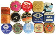 Vintage typewriter ribbon tins