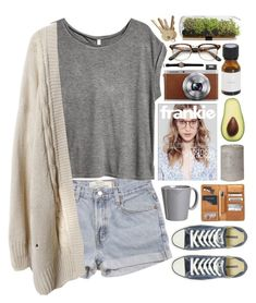 """""""She believed she could so she did."""" by vv0lf ❤ liked on Polyvore featuring Levi's, H&M, Vietri, Fuji and Converse"""