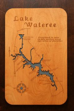 Big Spirit West Okoboji And East Okaboji Lake Located In Iowa Wooden Laser Engraved Lake Map