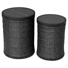 2pc Wicker Accent Table Set