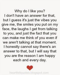 Love Quotes For Him & For Her why do i like you ♥ love quotes is part of Heartfelt quotes - Best love Sayings & Quotes QUOTATION Image As the quote says Description why do i like you ♥ love quotes Sharing is Love Don't forget to share Cute Love Quotes, I Like You Quotes, Love Yourself Quotes, True Love Quotes For Him, Cute Sayings For Him, Single Love Quotes, Searching For Love Quotes, Inspirational Quotes For Him, Romantic Quotes For Him