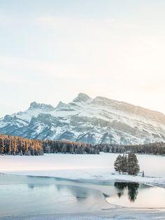 Last Light (Two Jack Lake, Banff, Alberta) by Nicholas Yee / 500px