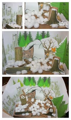 In this post, we will show you how to make a diorama of animals that hibernate in Winter! It is the perfect afternoon craft to make on out cold wintry afternoon. It is the perfect activity to add to our animals in Winter. Winter Crafts For Kids, Art For Kids, Kids Fun, Kindergarten Crafts, Preschool Crafts, Diorama, Animals That Hibernate, Projects For Kids, Science Projects