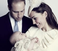 Prince George Christening New Photo: Kate Middleton, Prince William.