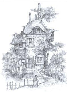 Mythwood - The Art of Larry MacDougall: The Belle Flower Inn