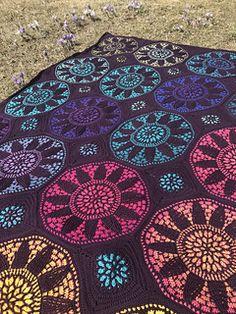Ravelry: Stained Glass Wonder Blanket pattern by Tatsiana Kupryianchyk