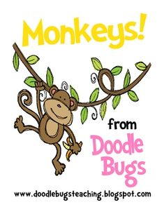 MONKEYS! Centers for kindergarten, first, second, math & literacy...JENNY I THOUGHT YOU MIGHT LIKE THESE!