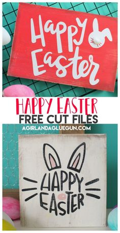 Today I have some fun free cut files for you–right on time for Easter (or maybe a little late since Easter is this week!) But either way-They are cute and fun and perfect for Easter buckets, wood signs, shirts or mugs! Grab some Adhesive vinyl or Heat t Spring Crafts, Holiday Crafts, Spring Projects, Holiday Ideas, Bujo, Easter Quotes, Easter Puns, Easter Sayings, Easter Buckets