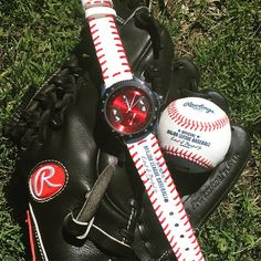 ♦} Winner watch face with a strap made from a real Major League Baseball!... http://etsy.me/2p2keeJ